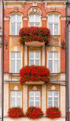 Glorious color and #texture on building #facade. Poznan Poland, Stary Rynek [fot. Ilja van de Pavert]