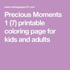 Precious Moments 1 (7) printable coloring page for kids and adults
