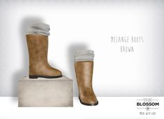 .The Blossom. Melange boots BROWN
