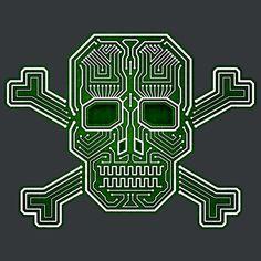 Hacker skull crossbones - NeatoShop