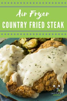 Air Fryer Oven Recipes, Air Frier Recipes, Air Fryer Dinner Recipes, Air Fryer Recipes Chicken Tenders, Country Fried Steak Recipe, Country Fried Chicken, Fried Cube Steaks, Air Fried Food, Air Fryer Healthy