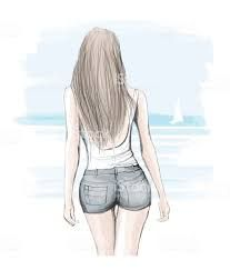 Imágenes de chicas de espaldas para dibujar
