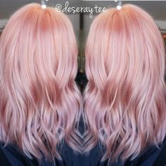 Ombres, Blondes And Balayage — Peachy pink #pink #pinks #pinkhair ...