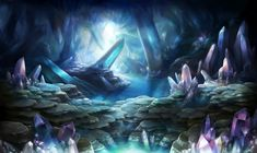 crystals cave concept art - Google Search