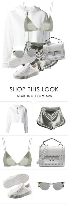 """Untitled #3583"" by xirix ❤ liked on Polyvore featuring Yves Saint Laurent, WithChic, T By Alexander Wang, Marc Jacobs, Puma and Linda Farrow"