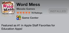 Please help Word Mess get a 100 5-star ratings on the App Store!