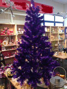 Deluxe Premium Weihnachtsbaum Lila 150cm inkl. Ständer - schwer ...
