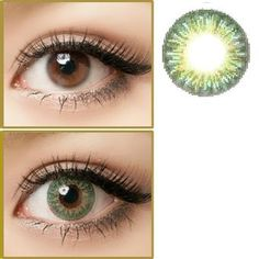 26b5799227 GEO Tri Color World Green Circle Lenses Colored Contacts Cosmetic Color  Circle Lens