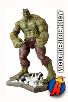 Marvel Select 7-inch scale Zombie Hulk action figure from Diamond Select Toys. Check out our website for tons of new and vintage collectibles in an easy-to-use searchable database.  #zombies #marvelzombies #hulk #marvelselect #diamondselect #actionfigures