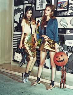 Irene Kim and Lee Seongkyeong by Lee Sujin for Ceci Korea Oct 2013