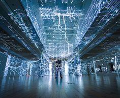 Charles Sandison projection installation