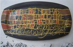 Amity Parks Calligraphy on Clay