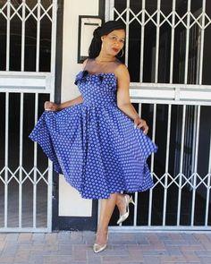 African Strapless Shweshwe styles - isishweshwe