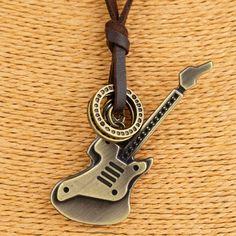 Vintage relogio Jewelry Guitar necklaces & pendants Women Necklace Genuine Leather Necklaces Men Necklace Choker collier kolye