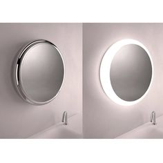 Solid mirror by Agape Design  Diego Vencato and Marco Merendi were fascinated with the concept of giving volume to an object that is usually flat.  They imagined it like drop liquid metal on the wall a hard concept to achieve with a single glass object.  The three-dimensional volume had to have a function so it became the ideal location for an integrated light.  Then they concentrated on the finish a key element of the project. The metal coating process (a technology usually used for…