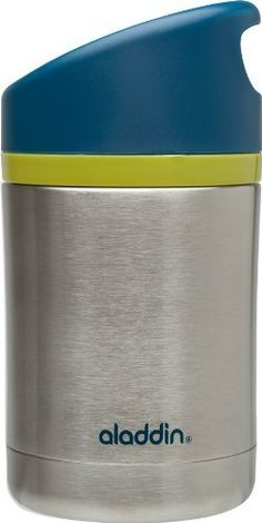 Aladdin 10-01324-002 Hybrid Kiddo Vacuum Food Jar, 12-Ounce by Pacific Market International. $14.99. Kid lid So small hands can open and close. Stainless steel residue-free and durable. Leak-proof no more mess. Stay-cool exterior so kids can touch. Vacuum insulated keep food hot/cold 6 hours. Hot luch for kiddos. Designed for children, little hands will be able to open this food jar all by themselves. Double wall stainless steel vacuum insulation will keep their soup...