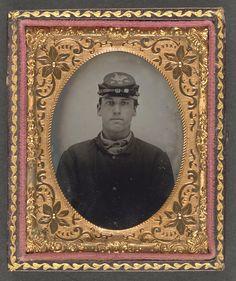 Lorenzo Hawkins of Company I, 12th Regiment New Hampshire Volunteers, Library of Congress. (1861-1865)