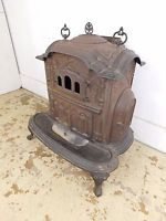 Vintage Antique Ornate Cast Iron Cook Heater Wood Coal Stove Clarion 26 Troy NY