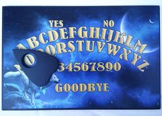 A4 Wooden Mystic Wolf Ouija Board & Planchette Full Moon, Spritiual, Ghost Hunt Ouija, Full Moon, Runes, Wolves, A4, Mystic, Boards, Harvest Moon, Sup Boards