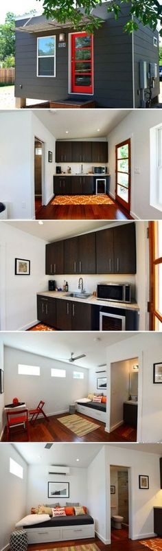 A contemporary, modular tiny house available for sale in Texas!