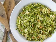 brussels sprout hash with capers, lemon and hazelnuts recipe