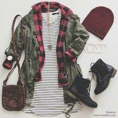 Utility jacket outfit idea ♡