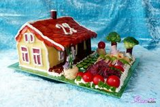 Cheese Display, Food Art, Gingerbread, Sandwiches, Fruit, Cake, Desserts, Savory Snacks, Vegetable Recipes