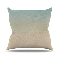 KESS InHouse CM1065AOP03 18 x 18-Inch 'Catherine McDonald Ombre Sea Beach Photography' Outdoor Throw Cushion - Multi-Colour * Want to know more, click on the image. #GardenFurnitureandAccessories