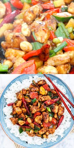 This Kung Pao Chicken is a delicious stir-fry. This Kung Pao Chicken is a delicious stir-fry loaded with chunky veggies and chicken and coated in a homemade tasty sauce. Ready in 30 minutes and way better than take-out! Comida China Chop Suey, Diet Recipes, Cooking Recipes, Healthy Recipes, Grilling Recipes, Healthy Meals, Recipies, Comida Filipina, Easy Appetizer Recipes