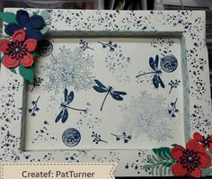 My first frame using new colors from Stampin Up
