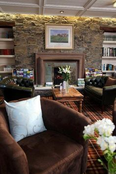 Our guest lounge. Perfect for morning coffee or post dinner drinks. (Look at that amazing tartan carpet!)