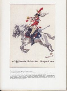 Heavy Cavalry: Plate 14: 4th Cuirassier Regiment, Trumpeter, 1805.