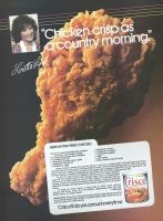 LORETTA LYNN Crisco Fried Chicken Recipe 1985 Ad. Chicken crisp as a country morning. Loretta Lynn. Herb Batter Fried Chicken. Crisco'll do you proud everytime.