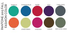Free Pantone Color Chart for fall 13 | Designs In Paper: 2013 Color Trend : Fall Fashion Color Trends
