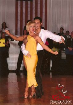 Adriana Bezmenova and Georgi Kanev dancing the Rumba at the Manhattan Dancesport Championship