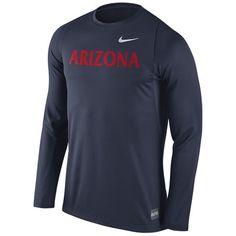 Arizona Wildcats Nike 2016 Elite Basketball Shooter Long Sleeve Dri-FIT Top…