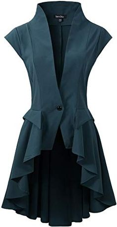 online shopping for DarcChic Womens Gothic Steampunk Tail Vamp Long Victorian Waterfall Waistcoat Jacket Top from top store. See new offer for DarcChic Womens Gothic Steampunk Tail Vamp Long Victorian Waterfall Waistcoat Jacket Top Looks Chic, Looks Style, Look Fashion, Womens Fashion, Fashion Design, Pretty Outfits, Cool Outfits, Diy Mode, Mode Vintage