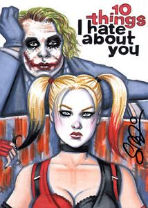 JOKER HARLEY QUINN 10 Things I Hate About You 5x7 Art Print Scott Blair