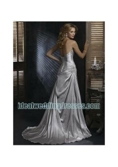satin strapless asymmetrical rouched a line skirt with chapel train and sexy  lower back corset designs 2010 new fashion simple luxurious wedding dress  wm ... b2b17a3a5900