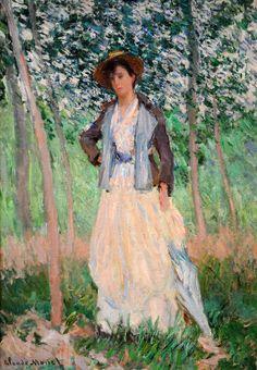 Claude Monet - The stroller (Suzanne Hoschede), 1886. Pinterest