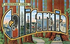 Greetings from California - Large Letter Postcard