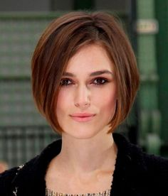 Keira Knightley is wearing a precision cut bob style that is super sexy and easy to manage.  The precision cut bob hair style is hot hot hot this year - Bob Hairstyles 2012 - Bob Hair Styles