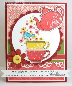 PTI - Tea for Two & Tea for Two Additions Thank you card by Lynn Put #papertreyink