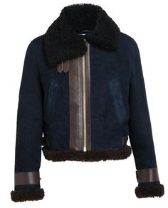 ACNE   Shearling and Suede Jacket