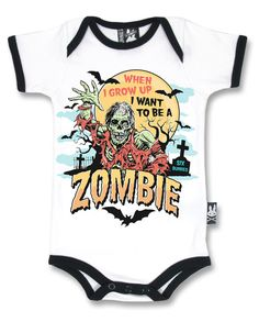 Clothes Cute Life - Six Bunnies zombie vest alternative baby clothes goth rock punk metal horror. Punk Rock Baby, Ropa Punk Rock, Punk Baby Girl, Rockabilly Baby, Rockabilly Fashion, Baby Outfits, Kids Outfits, Emo Outfits, Gothic Rock