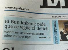 Otro ejemplo de sujeto gramatical propio de los titulares periodísticos.