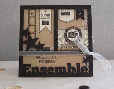 Collection Capsule de Mars pour Florilèges Design: Mini album accordéon avec un cadre en médium sur la couverture (15x15) de Scrapucine: 25-03-2016
