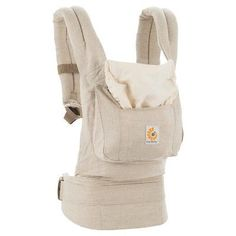 Ergobaby Original Ergonomic Multi-Position Natural Linen Baby Carrier - Beige,