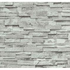 Vliesové tapety na zeď Origin - kámen pískovec bíl