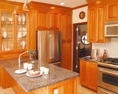 22 920 Granite Upgrade For Oak Cabinets Kitchen Design Ideas Remodel Pictures Houzz